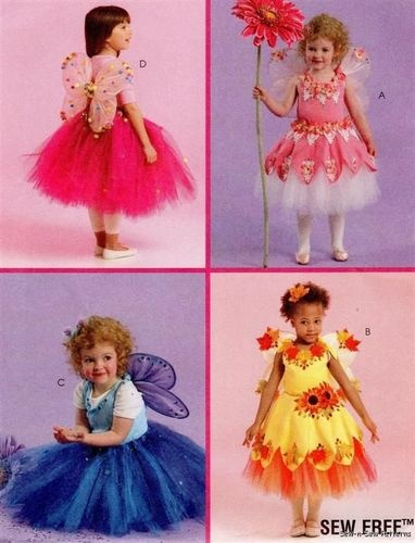 McCalls 5950 PATTERN NO SEW! Baby Toddler Fairy Costume Tutu Dress Wings 1-3 | eBay