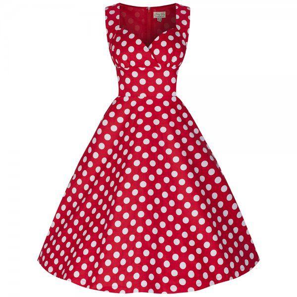 'Layla' Red Polka Swing Dress
