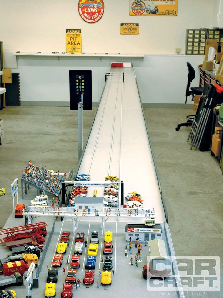 Slot Car Drag Racing The Full Race Track