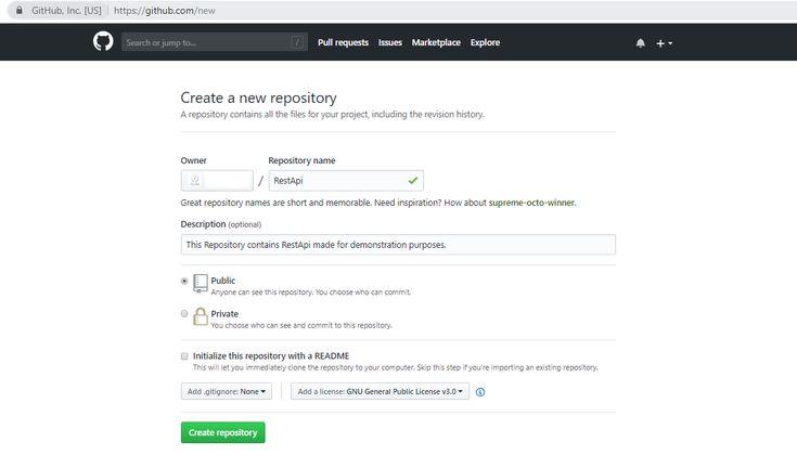 create repositories
