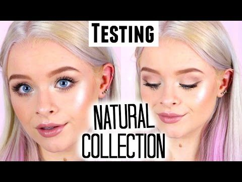 TESTING NATURAL COLLECTION MAKEUP! | sophdoesnails - YouTube
