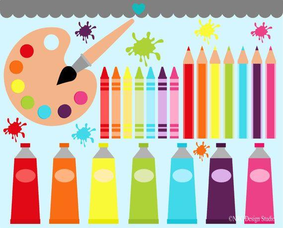 Art Class Clip Art Graphics - Digital Clipart Commercial Use - Instant Download via Etsy