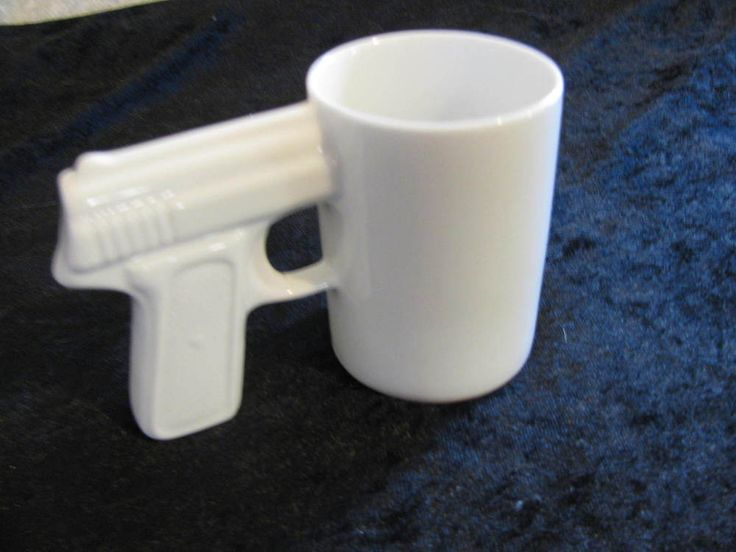 Topchoice MC2 Pistol Grip Coffee Mug Cup White Gun Handle