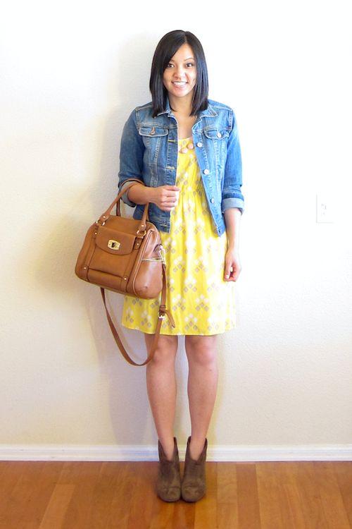 booties!  denim, dress, great for spring