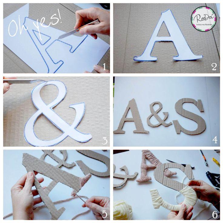 ▲ Te contamos como hacer letras con lana para decorar tu espacio!!! #simpe #eco #DIY