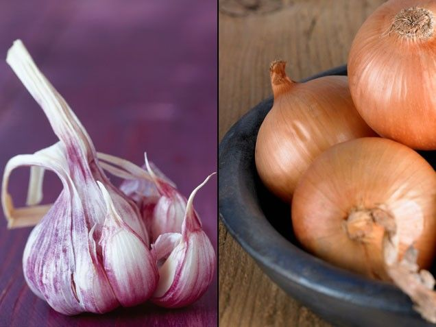 Garlic + Onions = Head to Toe Protection   Stay-Well Strategy: Cooked together, they make a delicious base for soups and sauces or simply sauté veggies like broccoli in a mix of olive oil, garlic, and onions.   From: ivillage.com