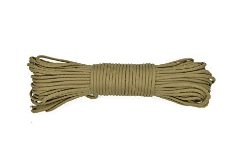Paracord Rope 550 Type III Paracord - Parachute Cord - 550lb Tensile Strength - 100% Nylon - Made In The USA (Coyote Brown, 50 Feet). For product & price info go to:  https://all4hiking.com/products/paracord-rope-550-type-iii-paracord-parachute-cord-550lb-tensile-strength-100-nylon-made-in-the-usa-coyote-brown-50-feet/