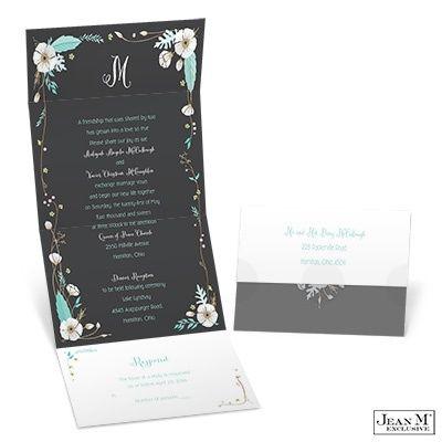 White Blossoms Seal and Send Wedding Invitation