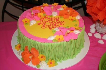 Luau Party Cake #hawaiian #birthday