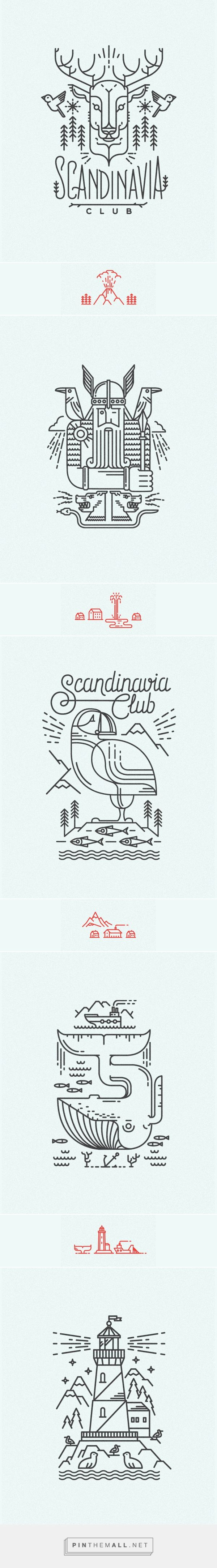Scandinavian line illustrations for Scandinavia Club in Moscow | #illustration #design