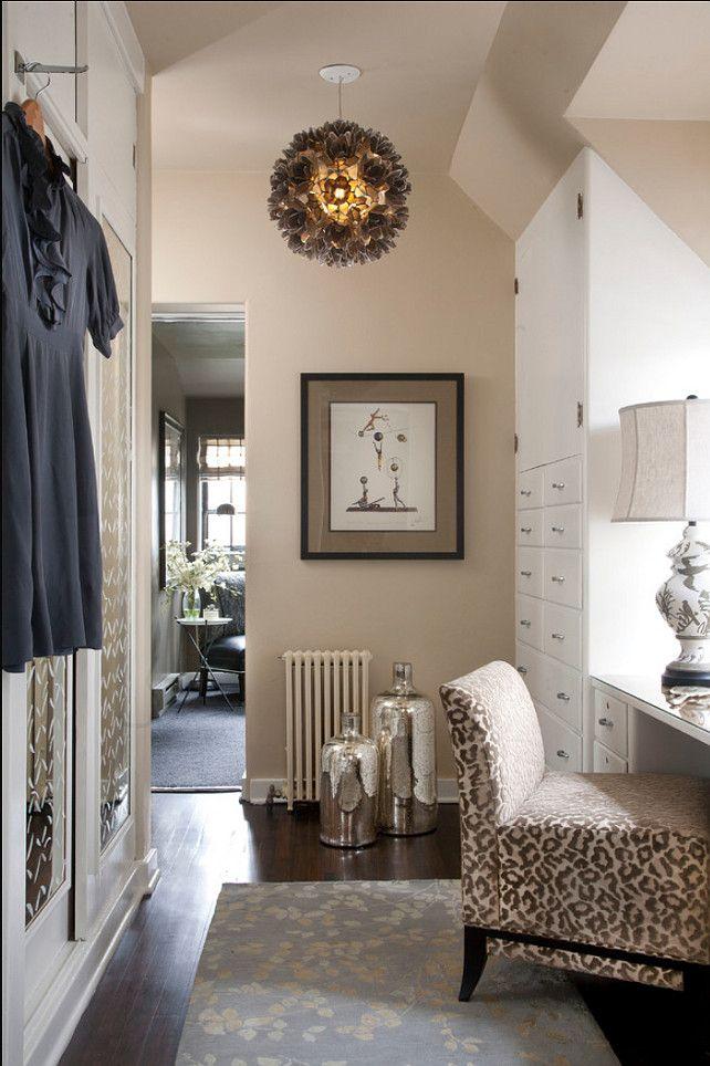 beautiful walk in closet design closet paint color devine pebble - Living Room Closet Ideas