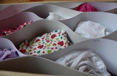 Sock-drawer organizing