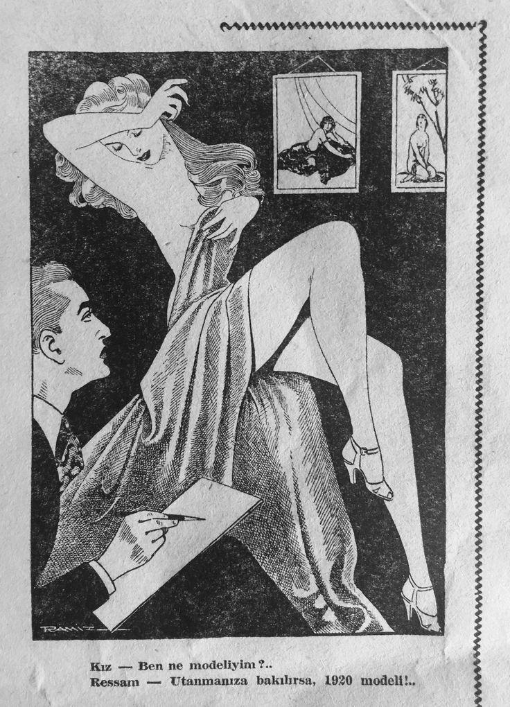 Akbaba Dergisi'nin 12 Temmuz 1956 tarihli sayısından #mizah #karikatür