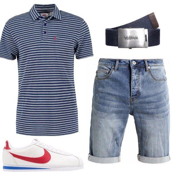 I bermuda di jeans firmati Cristiano Ronaldo stanno bene con la polo a righine, le sneakers di moda e la cintura sportiva, pezzi da tutti i giorni ma con un certo stile.