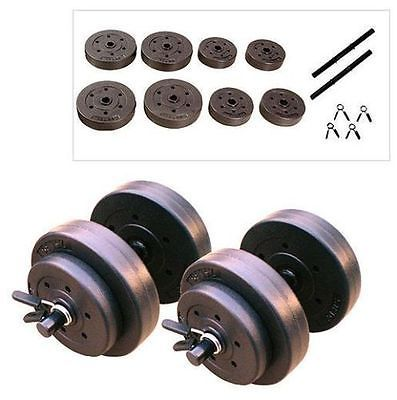 Gold's Gym 40 LB Adjustable Weight Dumbbells Set Cap Barbell Lift Body Workout