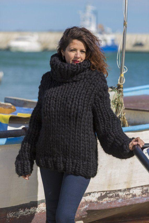 promo code bf21c 78ec1 Riesige Wollpullover Hand stricken Pullover Grobstrick ...