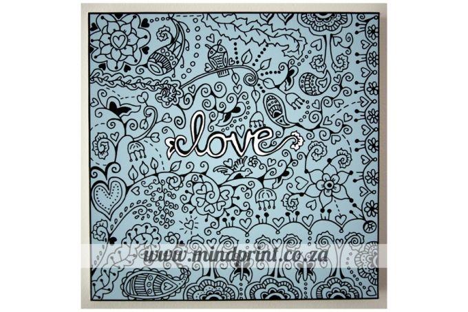 Canvas Print 35cm x 35cm - Love by MindPrint Designs
