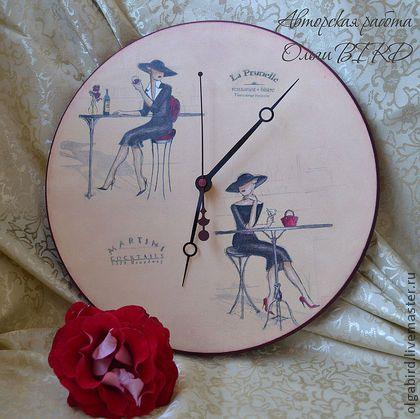 """Часы для дома ручной работы. Ярмарка Мастеров - ручная работа Часы """"Городские истории"""". Handmade."""
