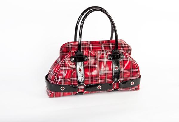 310: Gothic Pur, Handbags Pur, Rolls Tartan, Tartan Handbags, Rolls Black, Plaid Pur, Plaid Handbags, Red Tartan, Handbags 5499