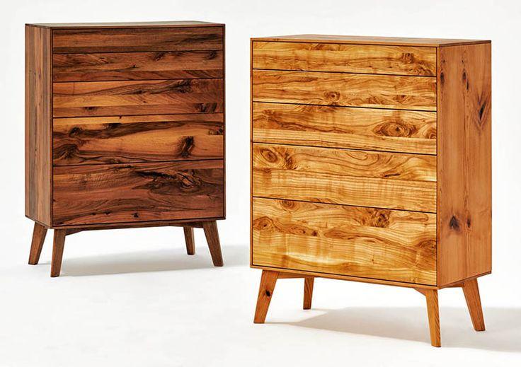 kommode, ladenkommode SOLID2 von sixay furniture - designermöbel aus vollholz