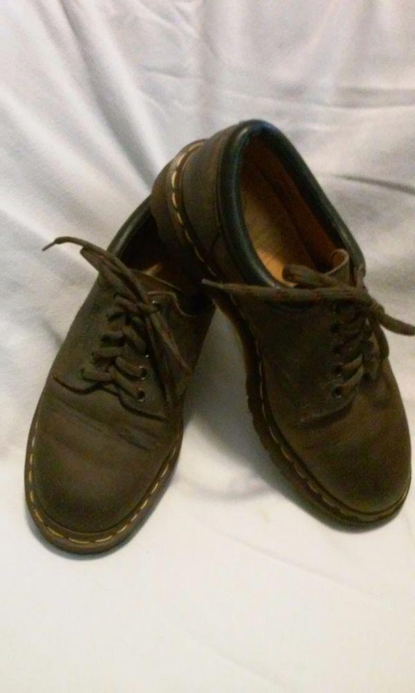 Vintage 90s Dr Martens Dr Brown Oxford Size 7 Made In England 8053 #DrMartens #Oxfords