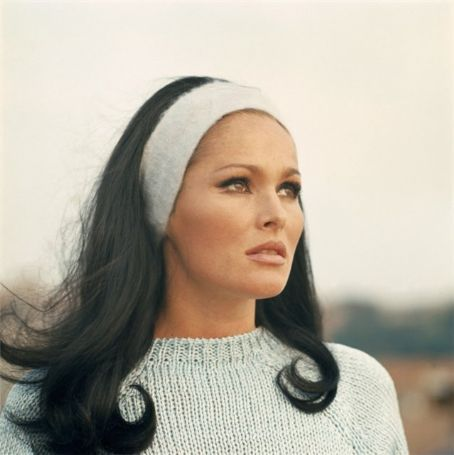 Ursula Andress...better known as Honey Ryder, the Bond girl.  Love the thick headband.