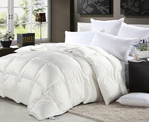 1000 Thread Count King California King Cal King Oversized Siberian Goose Down  Comforter 100 Egyptian Cotton White Allergy Free 14