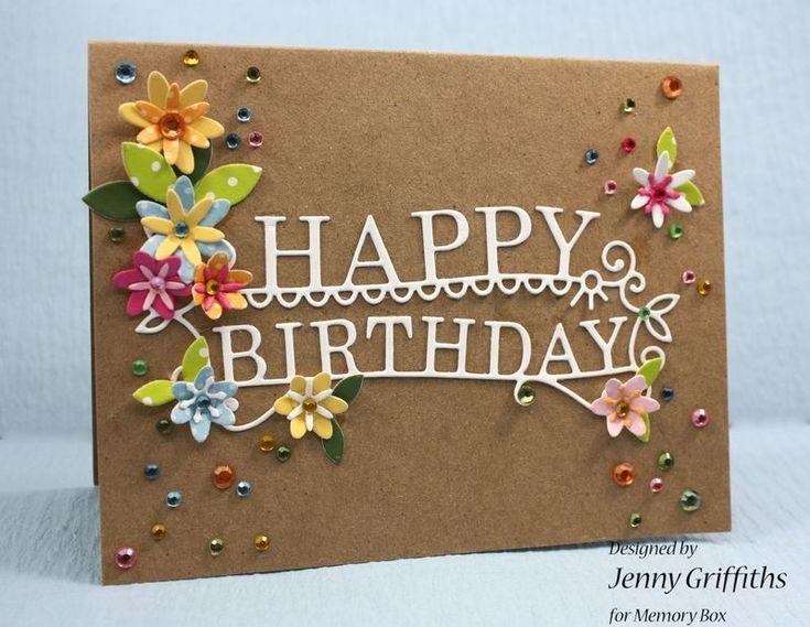 Memory Box Dirs- Happy Birthday Extravaganza 98765, Adorable Posies 98837, Luscious Leaves 98836