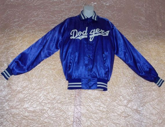Los Angeles LA Dodgers Jacket Baseball Vintage Jacket Baseball Vintage 1970s 70s Satin MLB NL Danny Goodman Banded Cuffs/Waist/Collar Old School Mens xL/Extra Large by OneLovePlanet