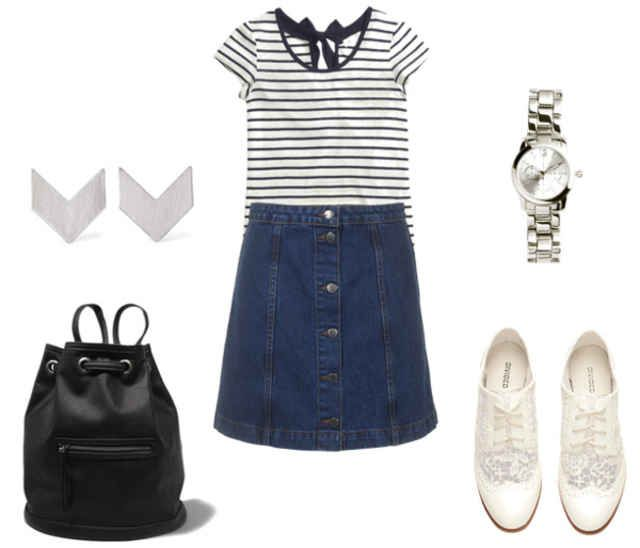 Class to Night Out: Denim Skirt - College Fashion