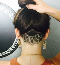 undercut designs for girls tumblr - Google Search                                                                                                                                                      More