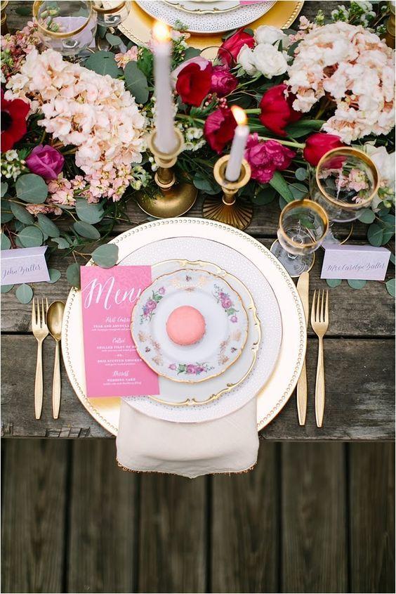 Décoration de table de mariage bohême - Les décorations de tables de mariage qui font de l'effet - Elle
