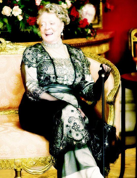 Мэгги Смит - за кулисами на сезон 4 Даунтон аббатстве.