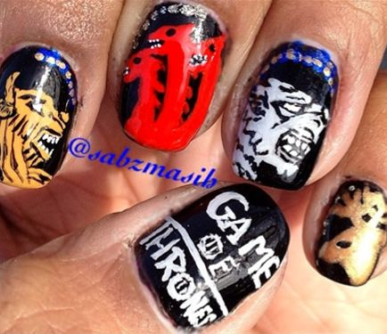 53 best character tv movie nails images on pinterest tv game of thrones nails thats just soo geeky sherlock nails tv shows prinsesfo Gallery