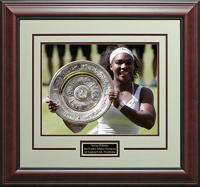 Tennis 430: Serena Williams Wins 2015 Wimbledon Ladies Singles Champion Photo Framed. -> BUY IT NOW ONLY: $119.95 on eBay!