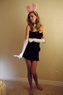 diy women halloween costume diy bunny costume ward ward ward zaehringer you already have a black dress like this kinda - Halloween Costumes With A Black Dress