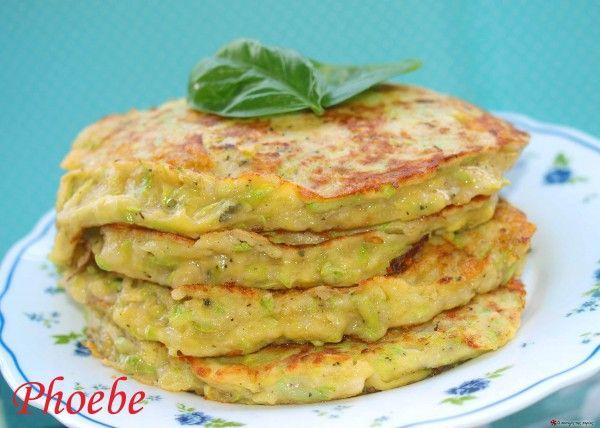 Pancakes με κολοκυθάκια #sintagespareas #pancakesalmira #kolokithakia