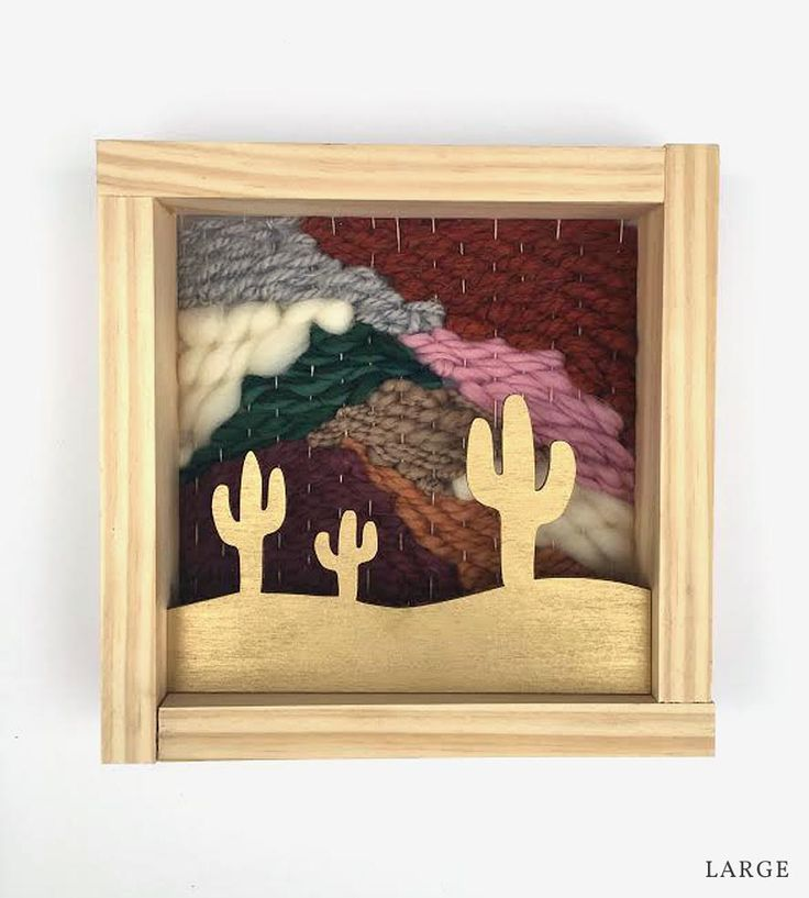Woven Cactus Wall Art | Built with the southwestern landscape as its inspiration, this... | Mixed Media Art