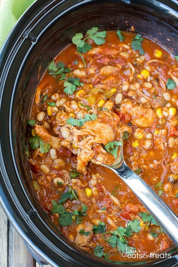 Crock Pot Spanish Chicken ~ Delicious chicken loaded with flavorful spices and…