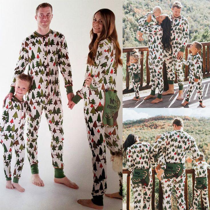 Family Matching Christmas Tree Pajamas Set Adult Baby Kids Girl Sleepwear Pj  #Unbranded #PajamaSets