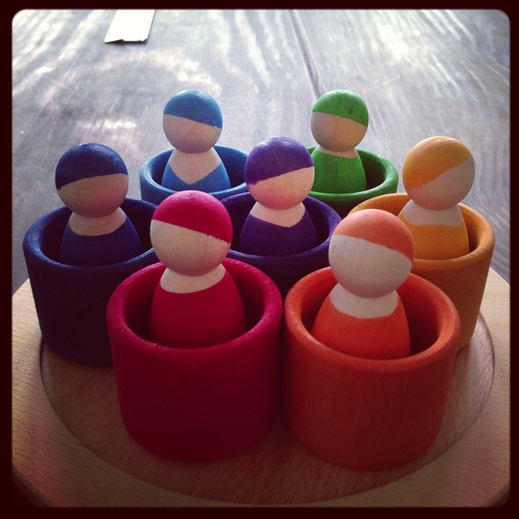 Grimm's Rainbow People For Matching and Sorting presented at Nuremberg Toy Fair 2013 <3