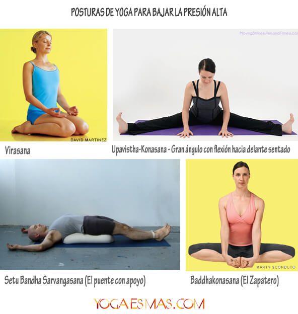 Posturas de yoga para bajar la presión alta