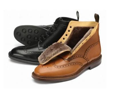 Loake Wolf is a stylish brogue boot that veers away from the traditional Loake Shoe.  http://www.robinsonsshoes.com/loake-wolf.html