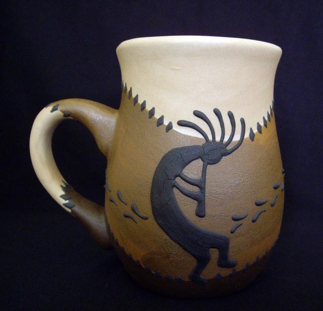 Kokopelli Stoneware Coffee Mug - Southwestern Mugs by Robin Harley, via Flickr