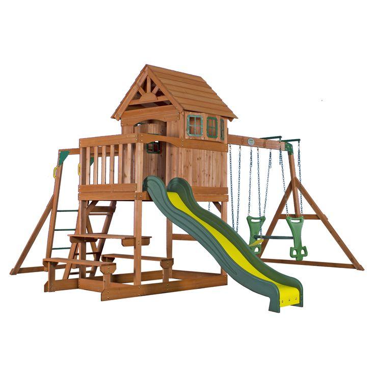 Backyard Discovery Springboro Residential Wood Playset ...