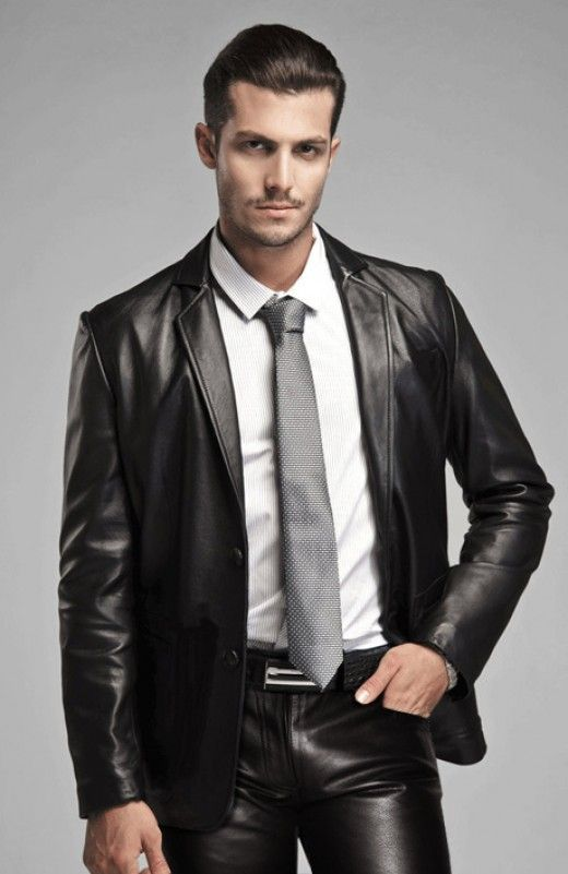 Whenever I have business meeting, and of course it is not smouldering hot outside, I usually take out a leather blazer from my wardrobe and put it on. I find blazers stylish and distinguished and also they give a certain edge to a person, don't you think.