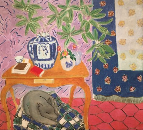 Henri Matisse, Interior with Dog, 1934 on ArtStack #henri-matisse #art