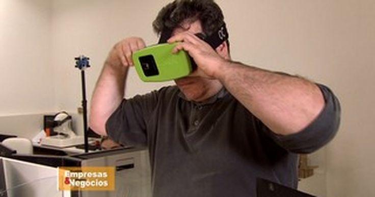 Empresário investe em óculos de realidade virtual