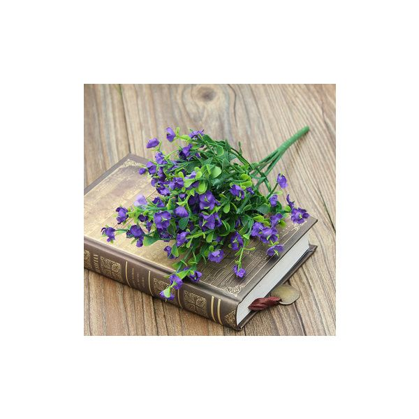 Artificial Flower Gypsophila 1 Bouquet 6 Branches Wedding Party Home... ($3.20) ❤ liked on Polyvore featuring home, home decor, floral decor, purple, silk flower arrangement, branches home decor, purple bouquets, silk bouquets and silk floral arrangement