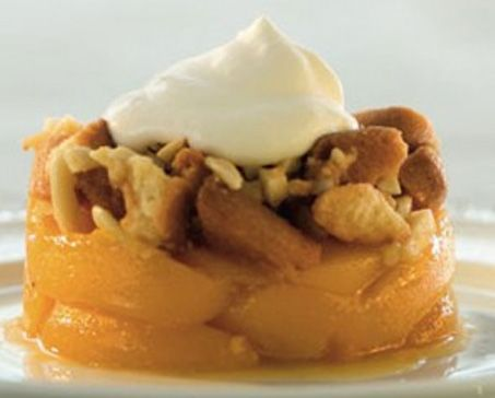 PEACHES BAKED WITH NUTTY CRUMBLE – Bakers